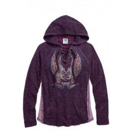 SWEATER LACE INSET PULLOVER