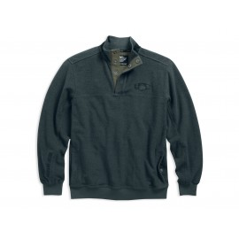 PIQUE PULLOVER GRY