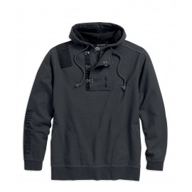 METAL CLASP ACCENT HOODIE