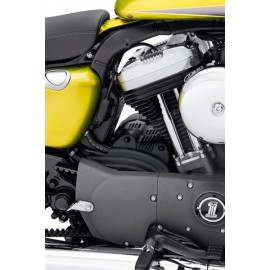 Tapa del motor de arranque negro rugoso