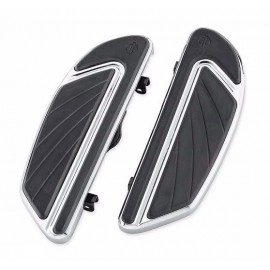 Airflow Footboard Kit - Rider - Chrome