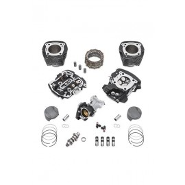 Kit Screamin' Eagle® Milwaukee-Eight® Stage IV, 107 a 114CI - Twin Cooled™, negro - resaltado