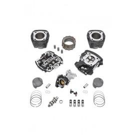 Kit Screamin' Eagle Milwaukee-Eight Stage IV, 114 a 117 CI - Twin Cooled - Black Granite resaltado
