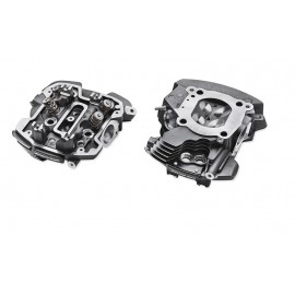 Culatas mecanizadas para motor Screamin' Eagle Milwaukee-Eight -Twin-Cooled, resaltadas en color Black Granite