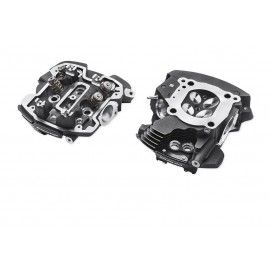 SCREAMIN' EAGLE® MILWAUKEE-EIGHT® ENGINE CNC PORTED CYLINDER HEADS - TWIN-COOLED™ – BLACK HIGHLIGHTED