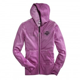 PURPLE LACE WING FULL ZIP HOODIE