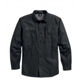 SHIRT COATED CHAMBRAY DRK
