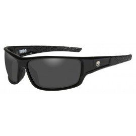H-D MEN'S ENDO WILLIE G SKULL SUNGLASSES, GRAY LENS / BLACK
