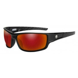 H-D MEN'S ENDO WILLIE G SKULL SUNGLASSES, RED MIRROR LENSES