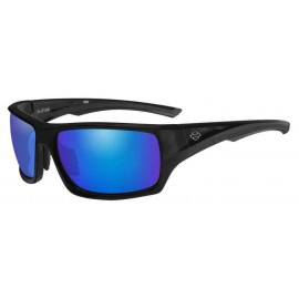 H-D MEN'S INK BAR & SHIELD SUNGLASSES, BLUE MIRROR LENSES