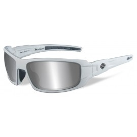 H-D MEN'S MOTION SUNGLASSES, GRAY LENS / MATTE WHITE FRAME