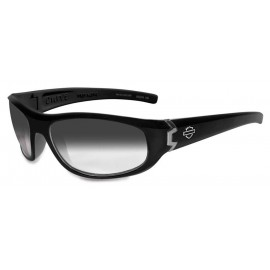 H-D MEN'S CURVE LIGHT ADJUST GLOSS BLACK FRAMES SUNGLASSES