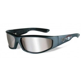 H-D MEN'S REVOLVER WILLIE G. SKULL SUNGLASSES, WILEY-X GRAY