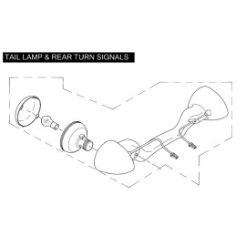 LAMP, REAR DIRECTIONAL ASSY, HDI