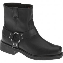 H-D MEN'S LIFESTYLE WOODRUFF BLACK MOTORCYCLE BOOTS