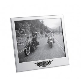 "CHROME FLAMES 8"" X 10"" PHOTO FRAME"