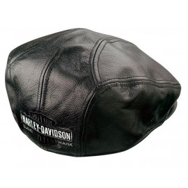 NOSTALGIC TRADEMARK LEATHER IVY CAP