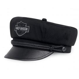 BAR & SHIELD LOGO BIKER CAP