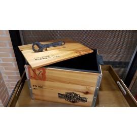 HARLEY DAVIDSON ® 1903 COOLER CRATE WITH OPENER BOTTEL