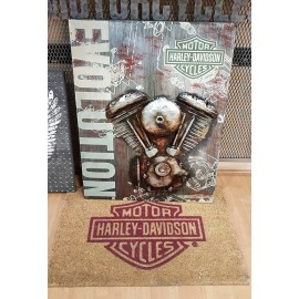 HARLEY DAVIDSON EVOLUTION MOTORCYCLE METAL WALL ART