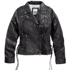 DARK SHADOWS LEATHER BIKER JACKET BY HARLEY DAVIDSON