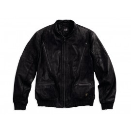 FASHION LEATHER BOMBER JACKET BY HARLEY DAVIDSON
