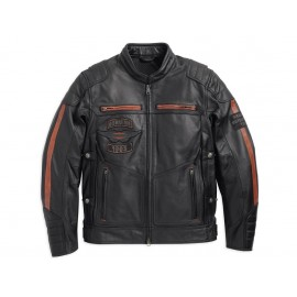 MEN'S TRIPLE VENT SYSTEM EXMOOR LEATHER JACKET