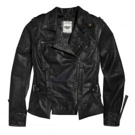 Chaqueta mujer de cuero con tachuelas Winsome Harley-Davidson®