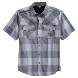 PERFORMANCE VENTED PLAID SHORT SLEEVE SHIRT