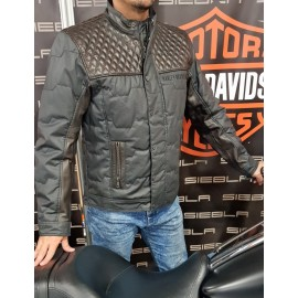 HARLEY DAVIDSON QUILTED LEATHER ACCENT JACKET