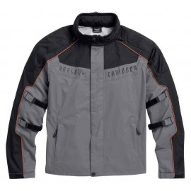 Harley-Davidson® Men's Chimera 3-in-1 Waterproof Jacket, Black/Gray