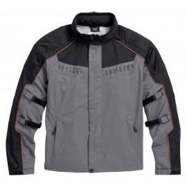Harley-Davidson® Men's Chimera 3-in-1 Waterproof Jacket, Black/Gray