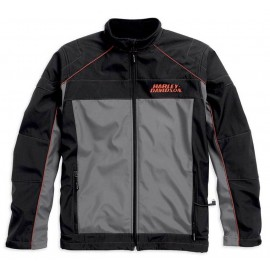 Harley-Davidson® Men's Recumbent Heated Soft Shell Jacket, Black