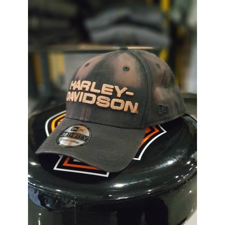 62b712b26f709 Men s Black Oil Washed 39THIRTY® Cap - Harley Davidson Siebla Málaga