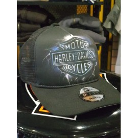 HARLEY-DAVIDSON MEN'S LIGHTNING LOGO CAP