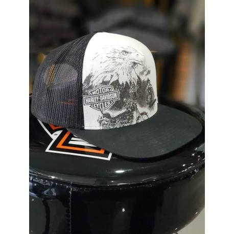 7d360e543a6 ... Bar Shield 59fifty Trucker Cap Black. Harley Davidson Mens Eagle Rider  Trucker Cap