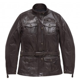 WOMENS MESSENGER 3/4 LEATHER JACKET BY HARLEY DAVIDSON