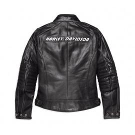 Zarda Perforated Leather Jacket