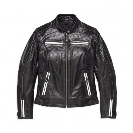 Zarda Perforated Leather Jacket