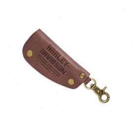 Debossed Leather Key Fob