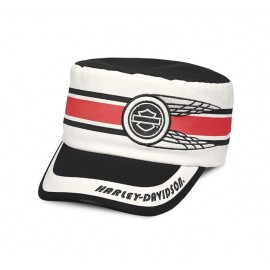 Race Stripe Flat Top Cap
