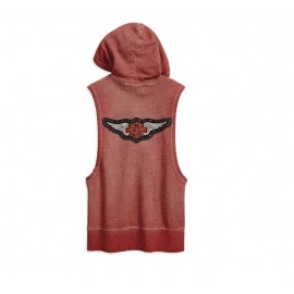 Sleeveless Winged Pullover Hoodie