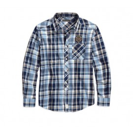 Skull Lightning Slim Fit Plaid Shirt