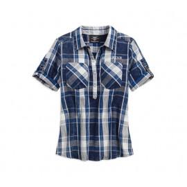 Printed Eagle Pullover Plaid Shirt