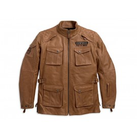 WHEELER WATERPROOF 3/4 LEATHER JACKET BY HARLEY DAVIDSON