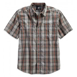 Men's Washed Plaid Shirt by Harley Davidson