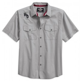 Harley-Davidson® Men's Contrast Stitch Short Sleeve Woven Shirt