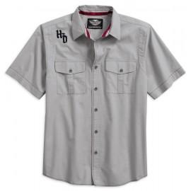 Harley-Davidson® Men's Contrast Stitch Short Sleeve Woven Shirt