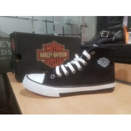 ZAPATILLAS HARLEY DAVIDSON Nathan Black Canvas Hi-top Athletic