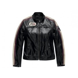 WOMENS ALMENA LEATHER JACKET BY HARLEY DAVIDSON